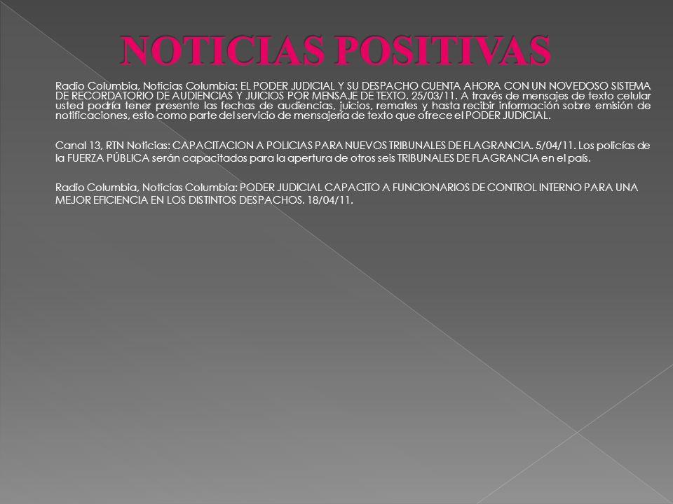 Radio Nacional, Noticias Nacional: PODER JUDICIAL AHORRA AGUA, ELECTRICIDAD Y CONTRIBUYE CON EL RECICLAJE. 14/02/11. La educación ambiental se estable