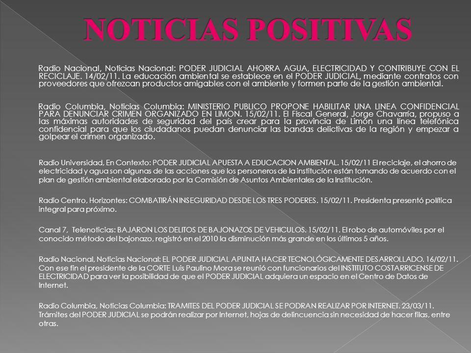 Radio América, Noticias América: CREACION DE UN CENTRO DE INFORMACION PARA LA POLICIA JUDICIAL. 25/01/11: El Director del ORGANISMO DE INVESTIGACIÓN J