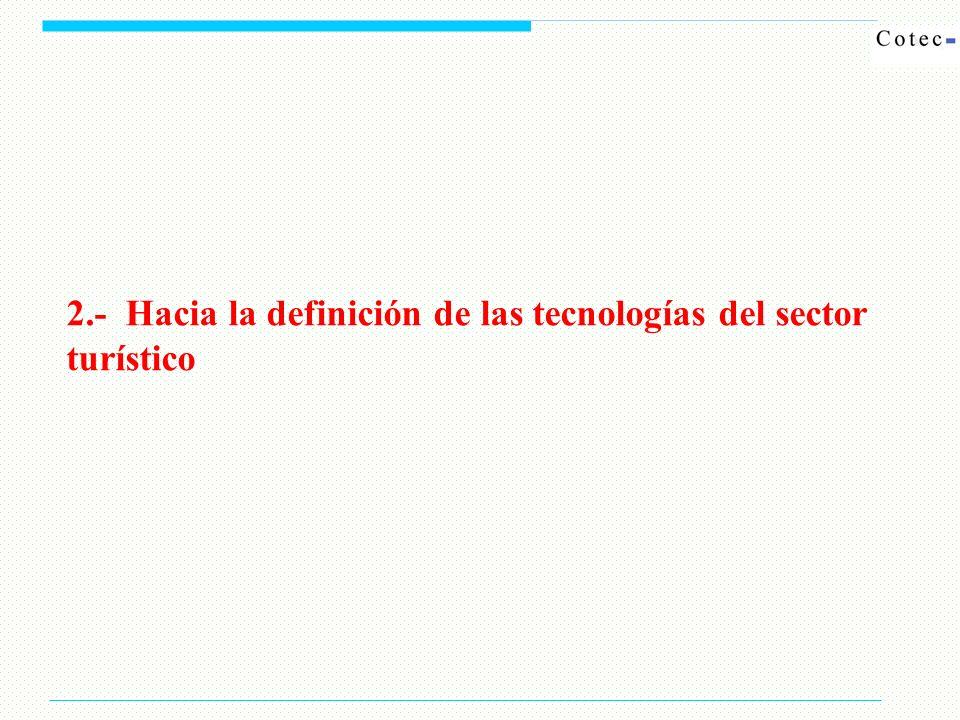 2.- Hacia la definición de las tecnologías del sector turístico