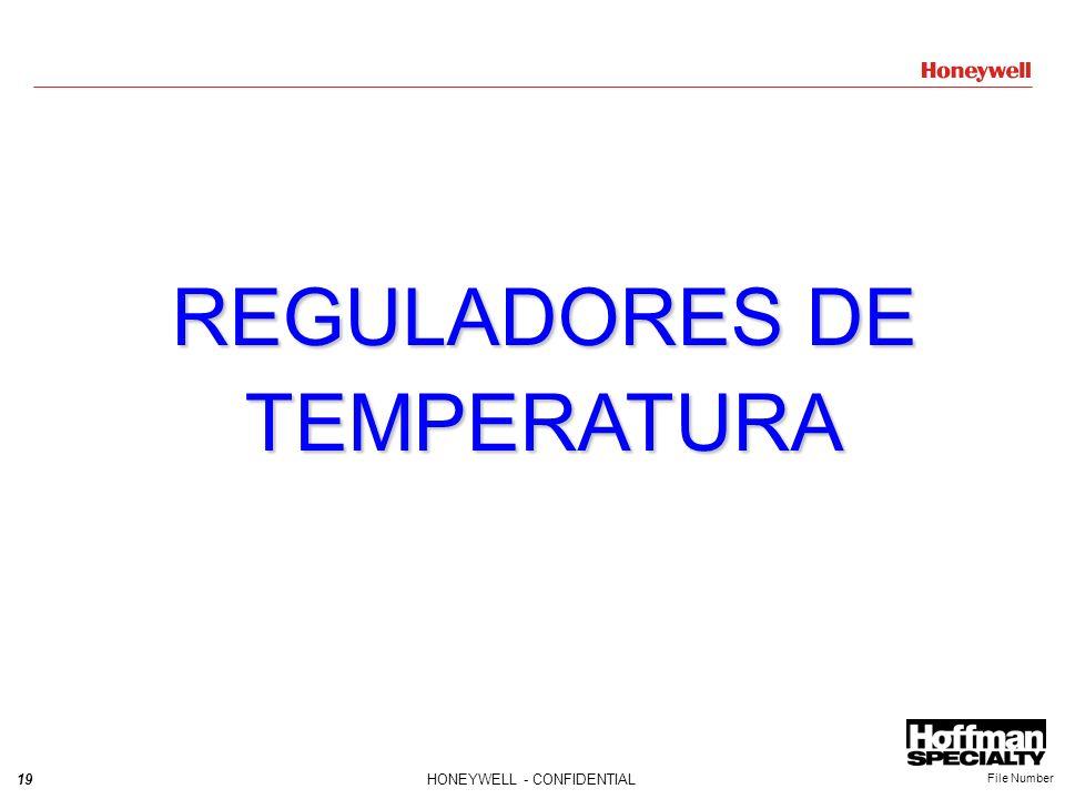 19HONEYWELL - CONFIDENTIAL File Number REGULADORES DE TEMPERATURA