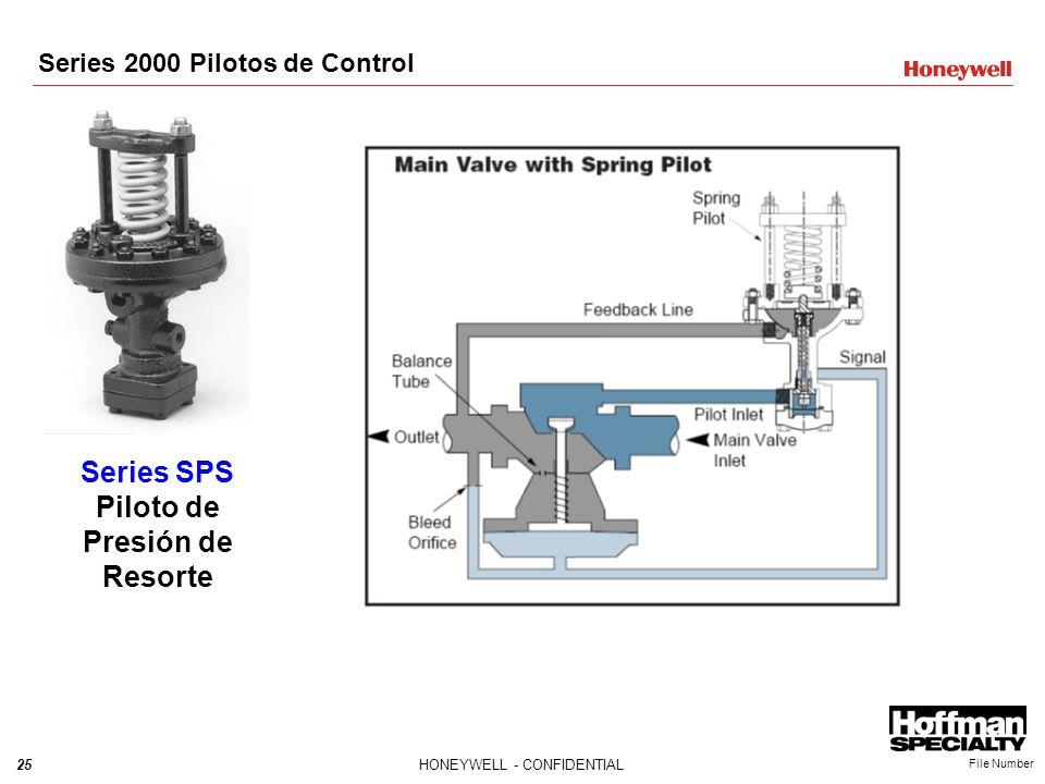 25HONEYWELL - CONFIDENTIAL File Number Series SPS Piloto de Presión de Resorte Series 2000 Pilotos de Control