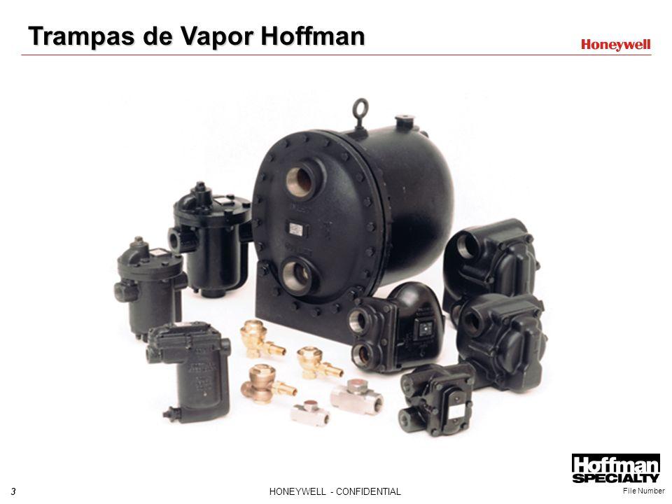 3HONEYWELL - CONFIDENTIAL File Number Trampas de Vapor Hoffman