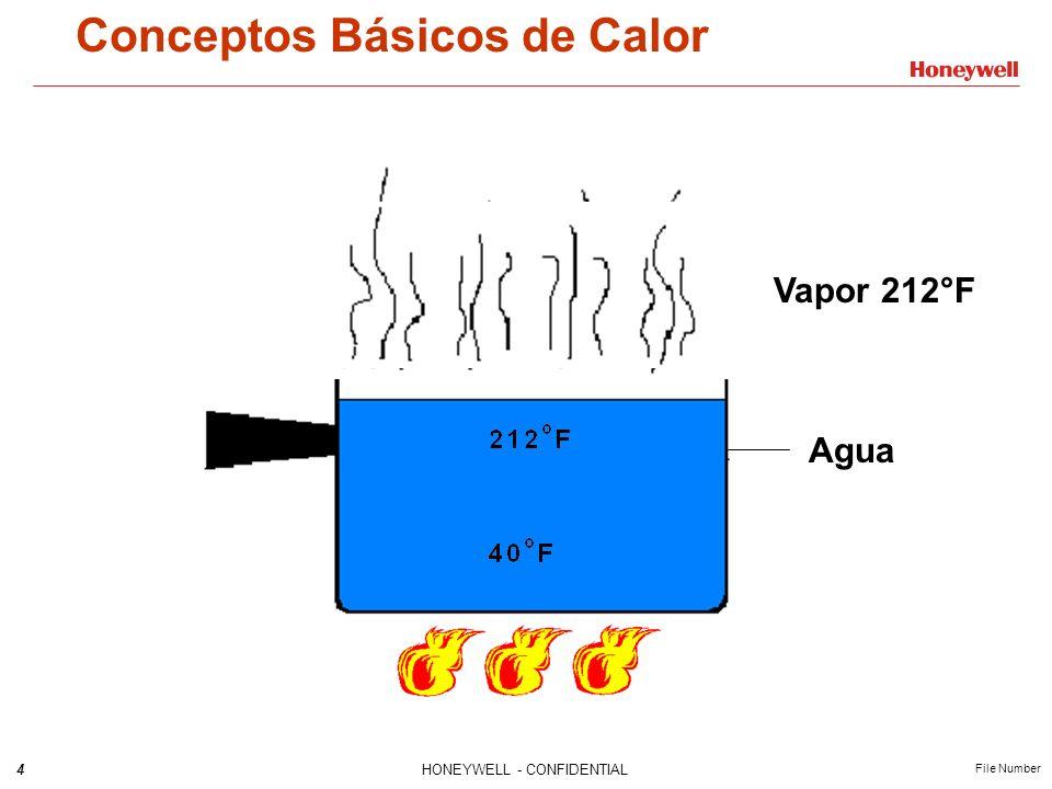 4HONEYWELL - CONFIDENTIAL File Number Conceptos Básicos de Calor Vapor 212°F Agua