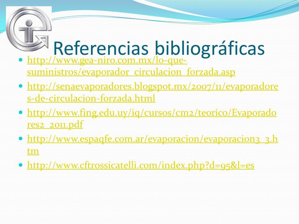 Referencias bibliográficas http://www.gea-niro.com.mx/lo-que- suministros/evaporador_circulacion_forzada.asp http://www.gea-niro.com.mx/lo-que- sumini