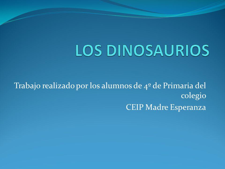 Trabajo realizado por los alumnos de 4º de Primaria del colegio CEIP Madre Esperanza