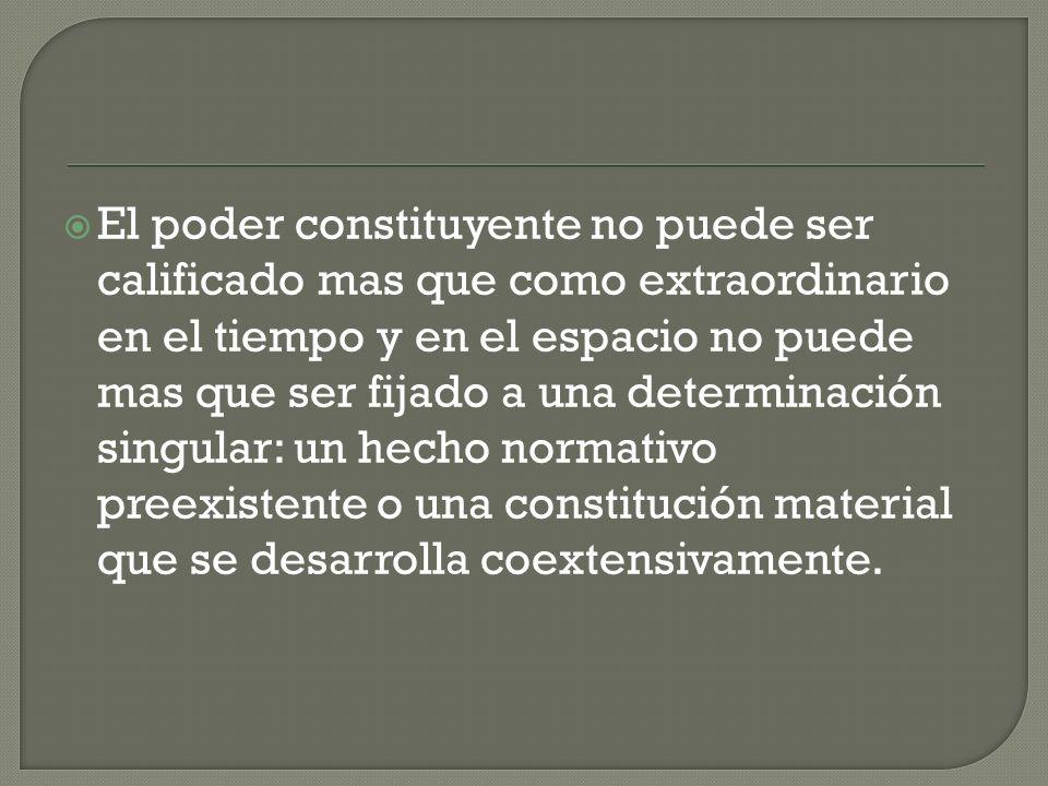 PODER CONSTITUYENTE SOBERANÍA La absolutez del poder constituyente es la del gobierno democrático La soberanía como suprema potestas es reclamada y reconstruida como fundamento.