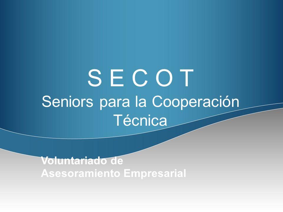 Sénior para la Cooperación Técnica SECOT, es una asociación sin ánimo de lucro, cuyo objetivo es ayudar, a través del asesoramiento, a emprendedores, microempresas y organizaciones e instituciones que carecen de recursos para acudir a las asesorías del mercado.