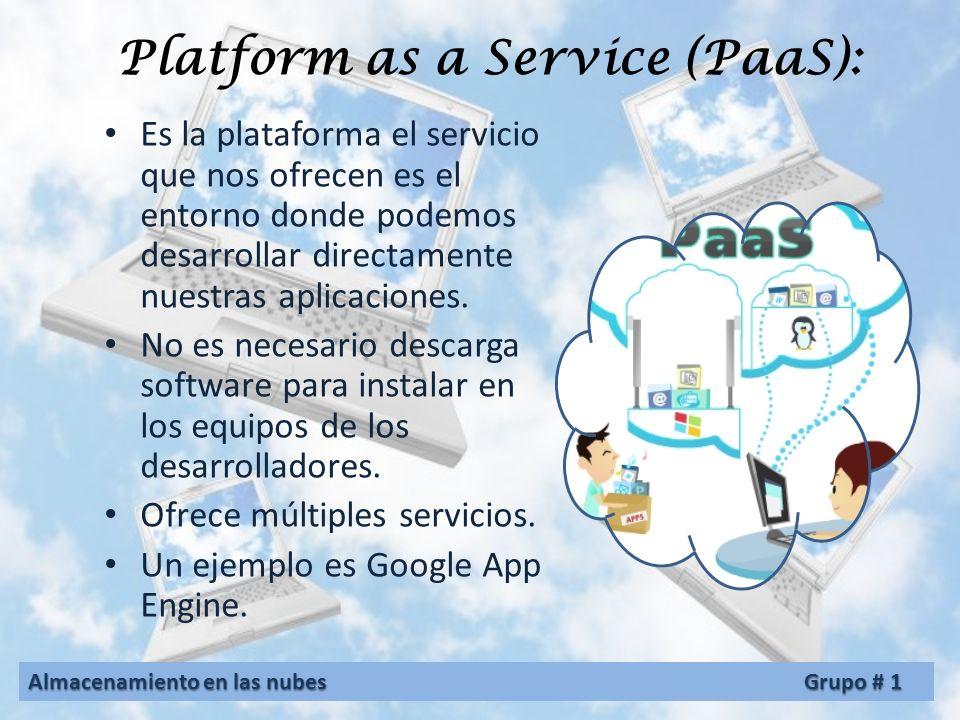 Software as a Service ( SaaS): Son servicios transformados en aplicaciones finales proporcionadas por el proveedor, listas para ser usadas por los cli