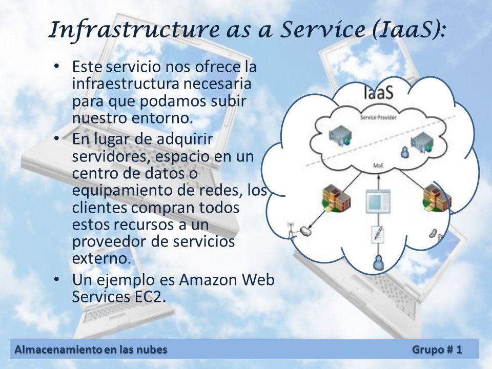 Platform as a Service (PaaS): Es la plataforma el servicio que nos ofrecen es el entorno donde podemos desarrollar directamente nuestras aplicaciones.