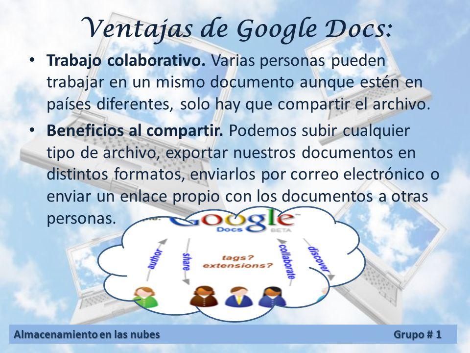 El primero en llegar fue Google Docs. Con Google Docs podemos guardar todos nuestros archivos, crear documentos de cálculo, de texto o presentaciones