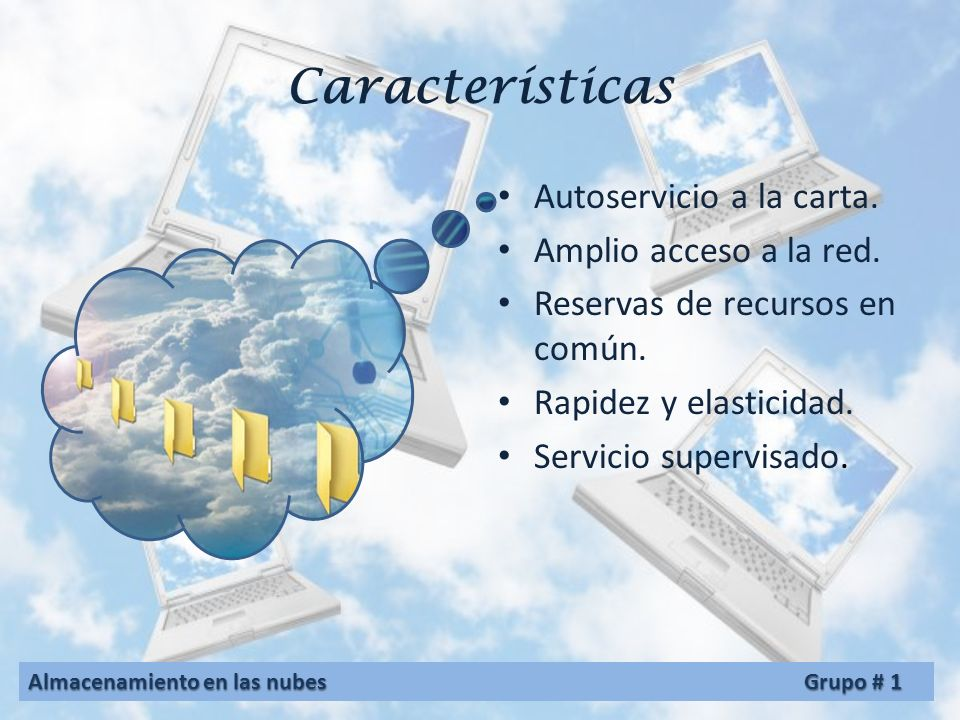 Servicios de almacenamiento en las nubes Los servicios de almacenamiento en la nube pueden accederse a través de una interfaz de programación de aplicaciones (API), o a través de una interfaz de usuario basada en la web.