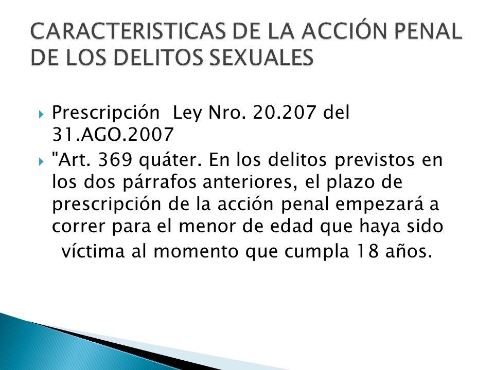 Prescripción Ley Nro. 20.207 del 31.AGO.2007