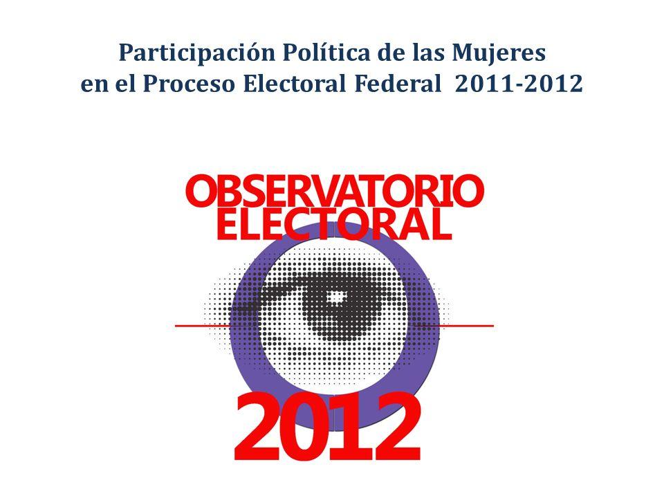 Participación Política de las Mujeres en el Proceso Electoral Federal 2011-2012