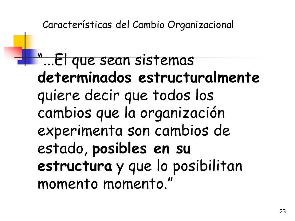 22 Las personas (trabajadores y empleados) también cambian y estan en un proceso de adaptación constante con la organización. ¡Las personas crecen y s