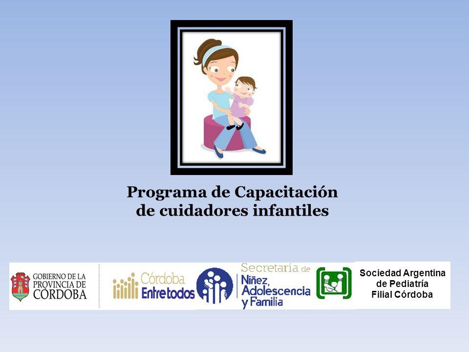 Programa de Capacitación de cuidadores infantiles Sociedad Argentina de Pediatría Filial Córdoba