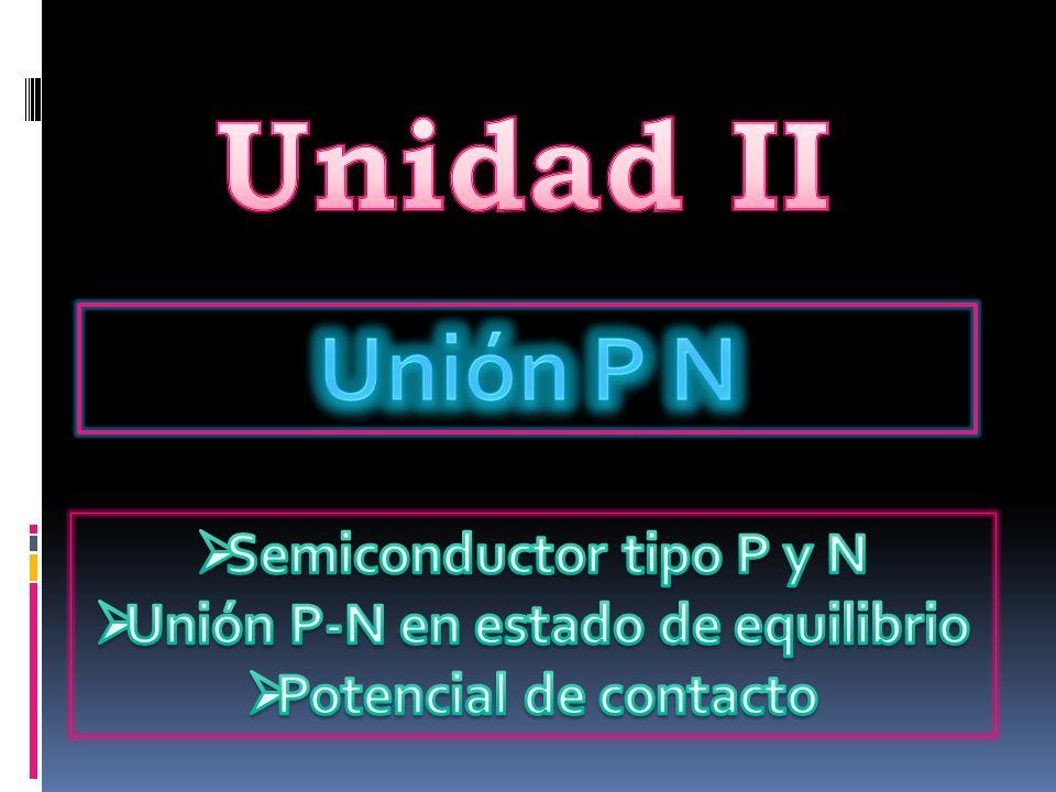Se conoce como unión P-N a la configuración fundamental de los componentes electrónicos conocidos como semiconductores principalmente diodos y transistores y estos están formados de dos cristales de silicio i de germanio según su naturaleza P y N según su composición del nivel atómico.
