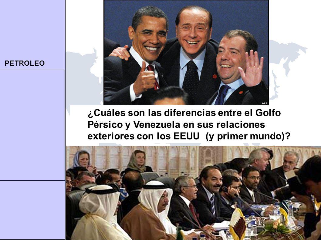 PETROLEO twod@umich.edu | TomOD.com 14 ¿Cuáles son las diferencias entre el Golfo Pérsico y Venezuela en sus relaciones exteriores con los EEUU (y primer mundo)?