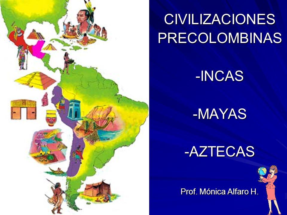 CIVILIZACIONESPRECOLOMBINAS-INCAS-MAYAS-AZTECAS Prof. Mónica Alfaro H.