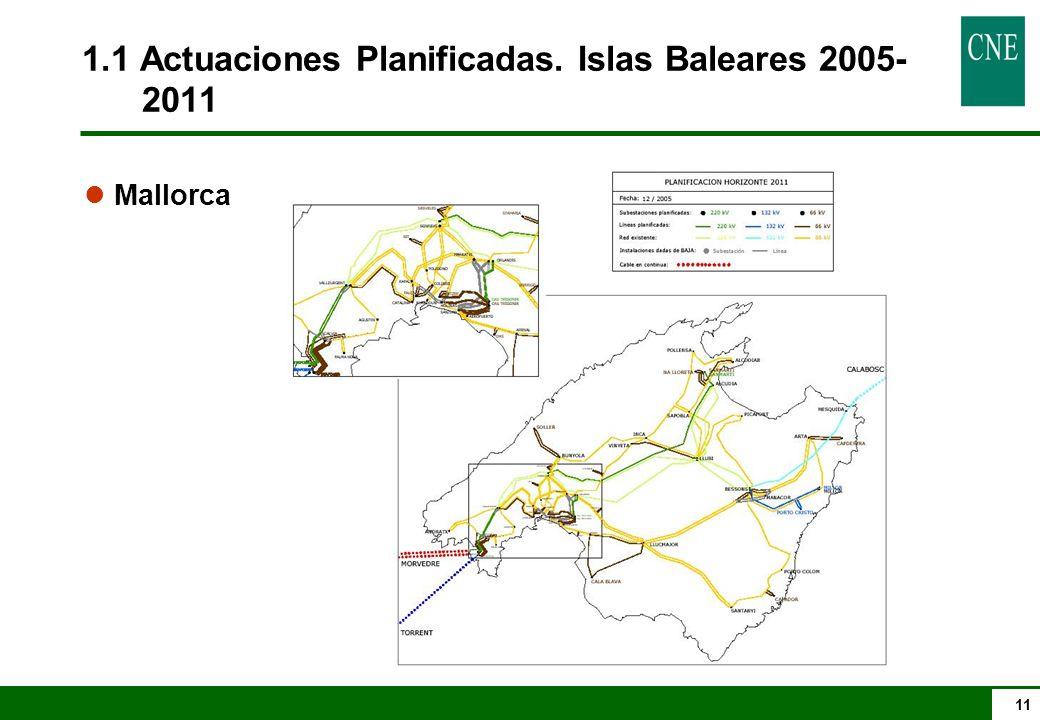11 1.1 Actuaciones Planificadas. Islas Baleares 2005- 2011 l Mallorca