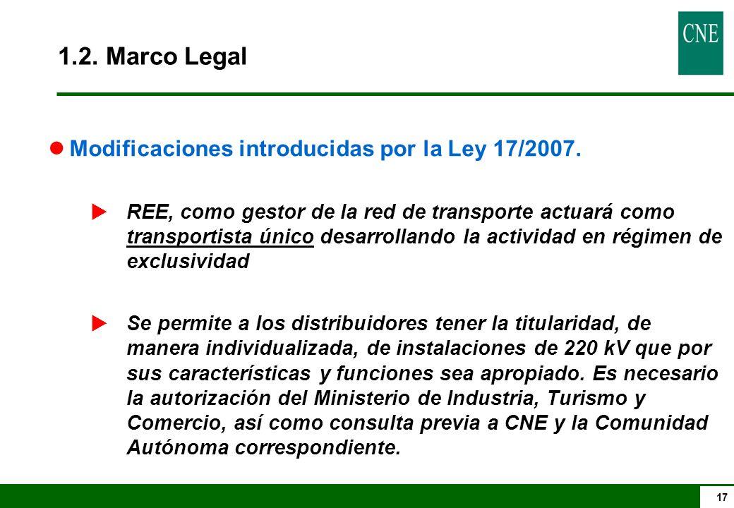 17 lModificaciones introducidas por la Ley 17/2007.