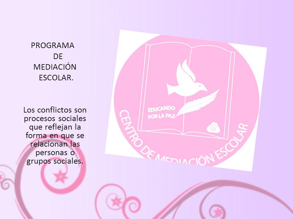 PROGRAMA DE MEDIACIÓN ESCOLAR.