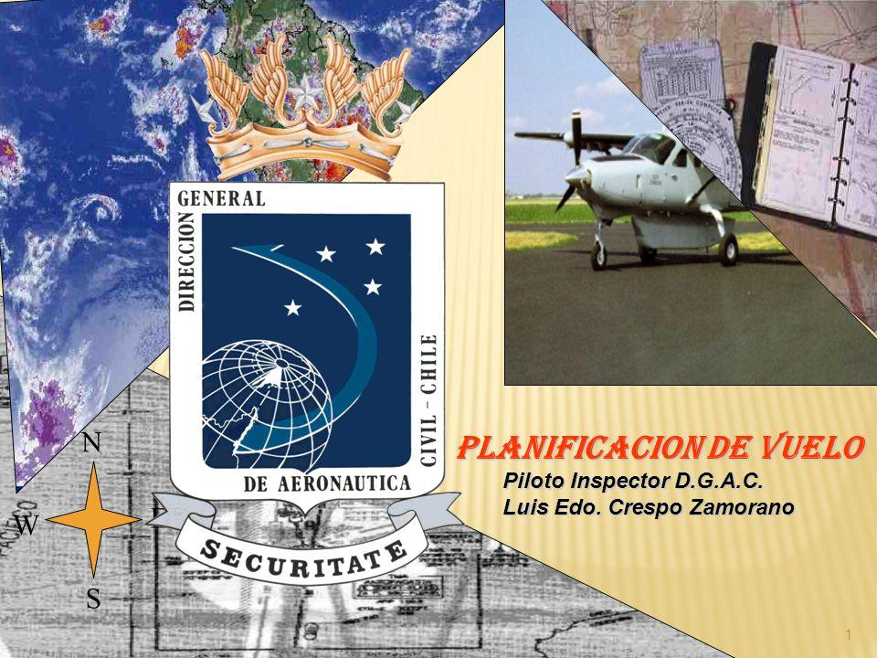 N E S W 1 PLANIFICACION DE VUELO Piloto Inspector D.G.A.C.