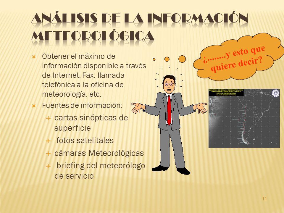 Obtener el máximo de información disponible a través de Internet, Fax, llamada telefónica a la oficina de meteorología, etc.