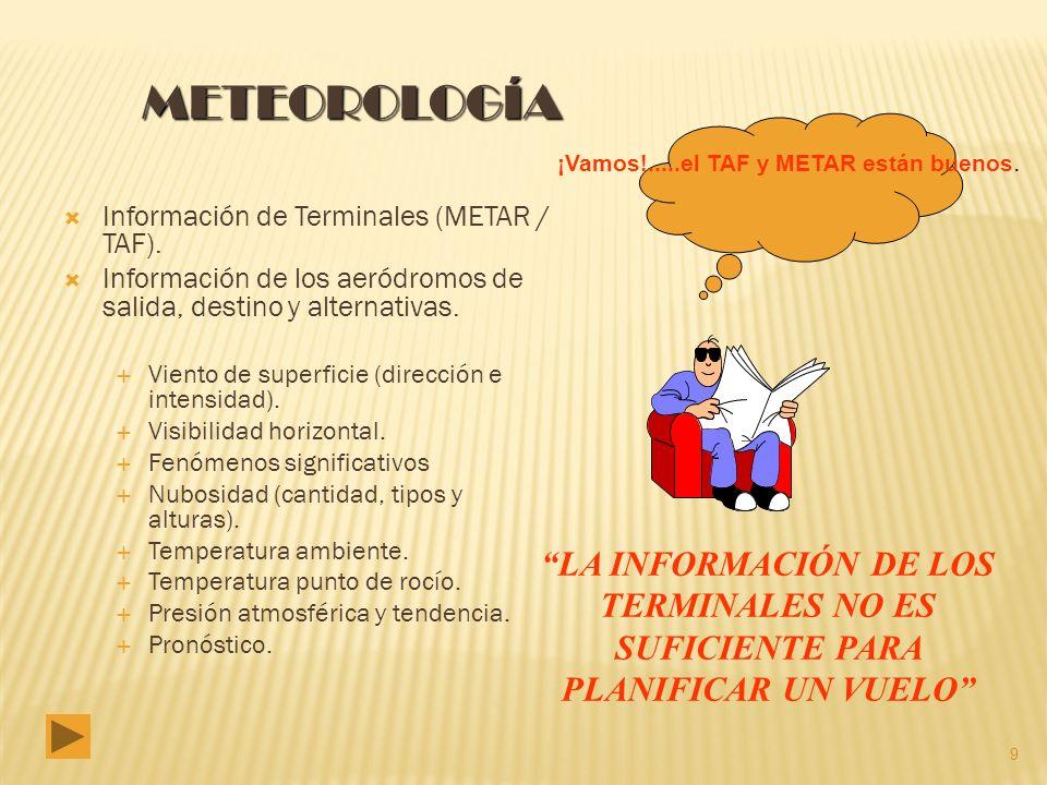 Información de Terminales (METAR / TAF).