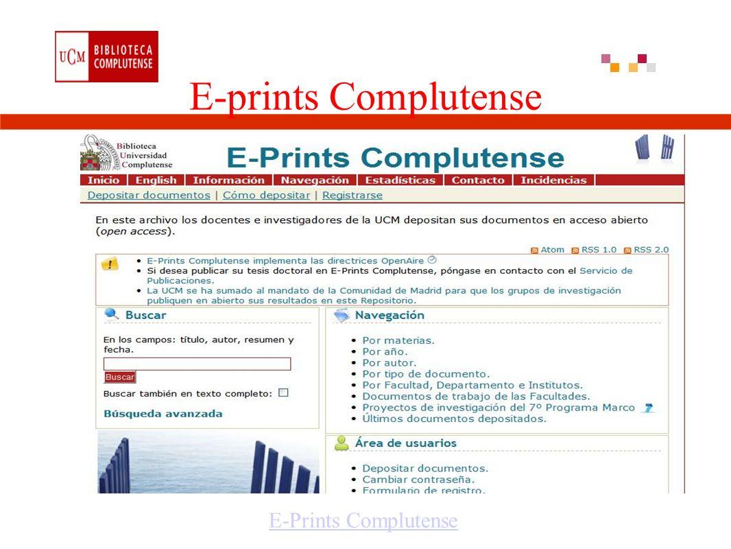 E-prints Complutense E-Prints Complutense