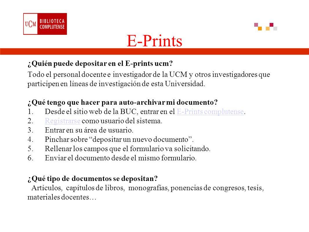 E-Prints ¿Quién puede depositar en el E-prints ucm.