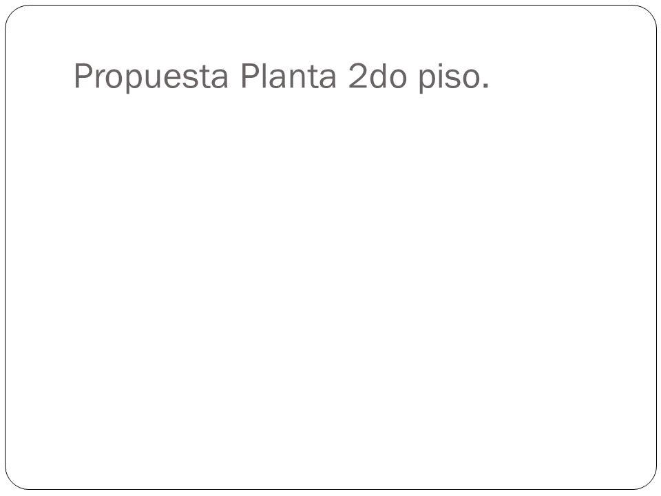 Propuesta Planta 2do piso.