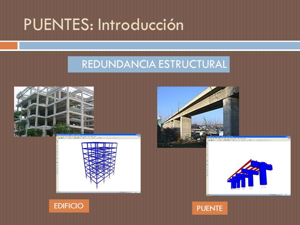 PUENTES: Introducción REDUNDANCIA ESTRUCTURAL EDIFICIO PUENTE