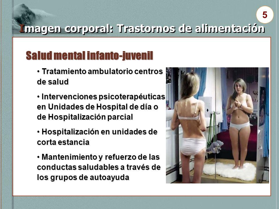 Salud mental infanto-juvenil Imagen corporal: Trastornos de alimentación 5 Tratamiento ambulatorio centros de salud Tratamiento ambulatorio centros de
