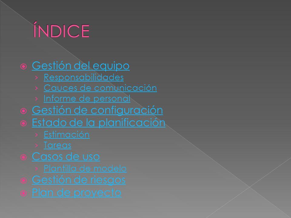 Por mutuo acuerdo se ha decidido nombrar los siguientes puestos: Jefe de proyecto: Daniel Turrillo Auditor: Jose Carlos González Director de producción: Daniel Sánchez Director de redacción: Javier Blanco Director creativo: Xiomara Zárate