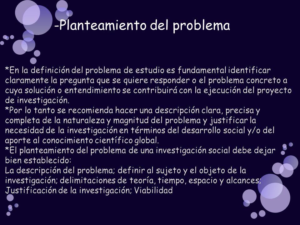 -Planteamiento del problema