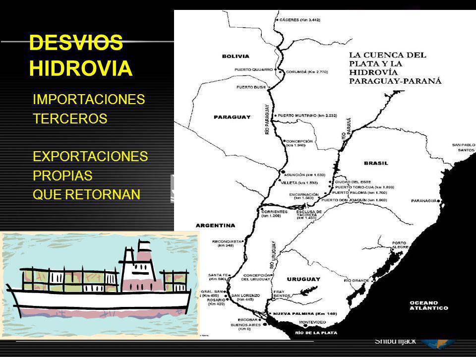 DESVIOS HIDROVIA IMPORTACIONES TERCEROS EXPORTACIONES PROPIAS QUE RETORNAN Shibu lijack