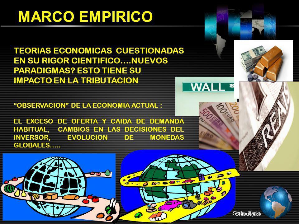 MARCO EMPIRICO Shibu lijack TEORIAS ECONOMICAS CUESTIONADAS EN SU RIGOR CIENTIFICO….NUEVOS PARADIGMAS? ESTO TIENE SU IMPACTO EN LA TRIBUTACION OBSERVA