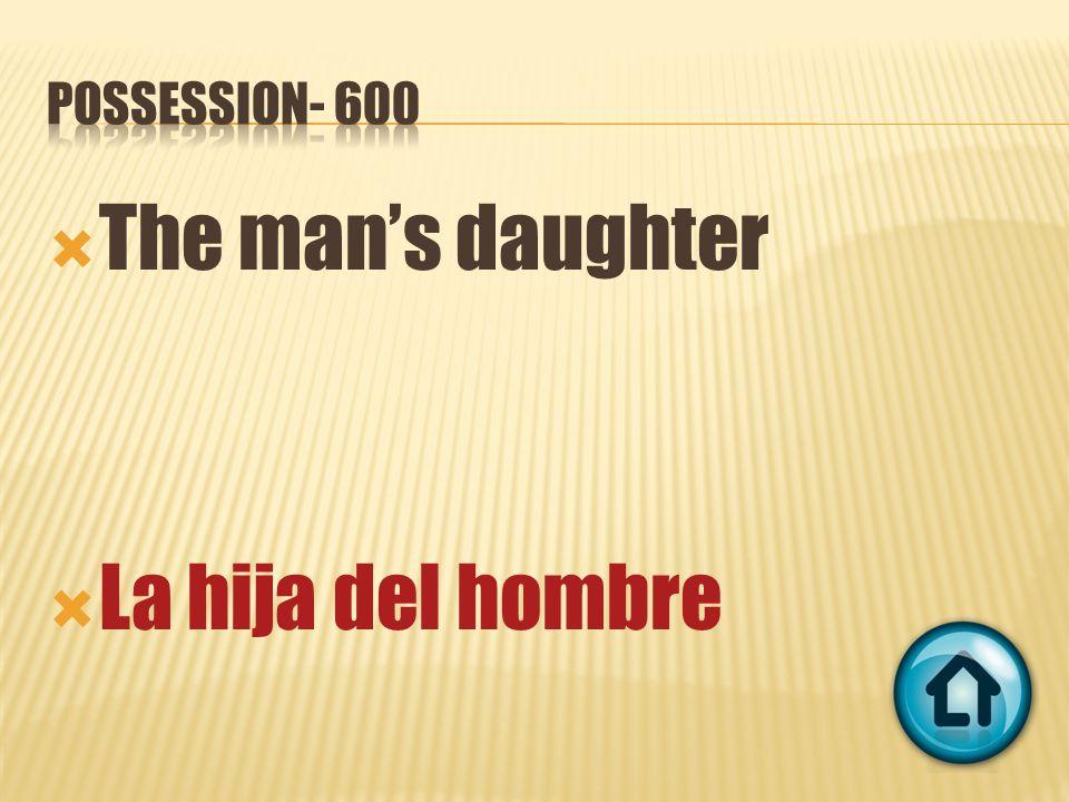 The mans daughter La hija del hombre