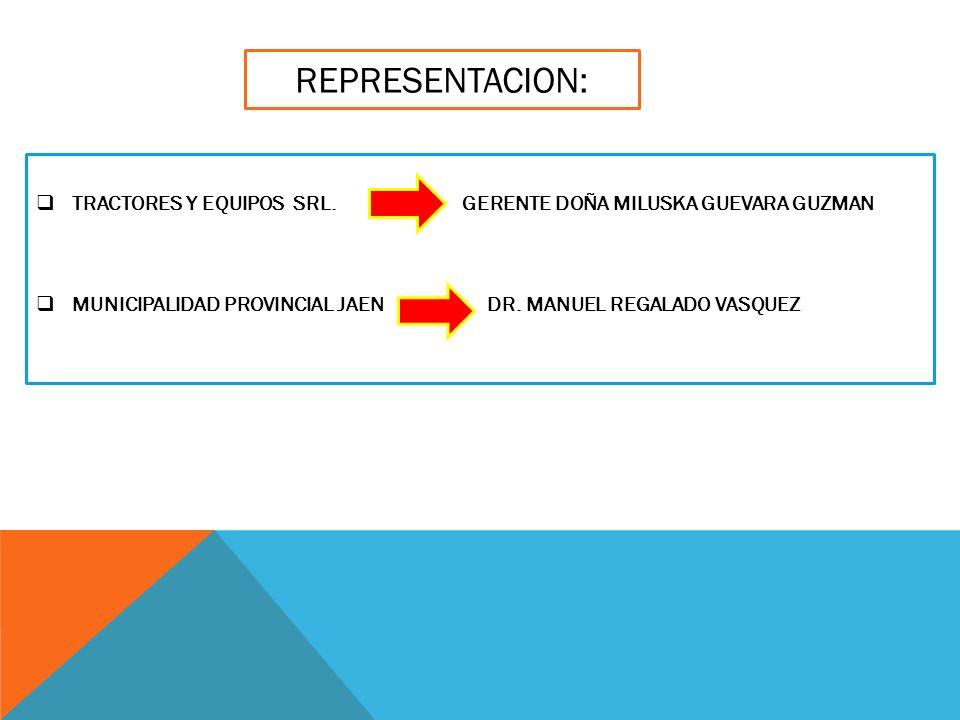 REPRESENTACION: TRACTORES Y EQUIPOS SRL.