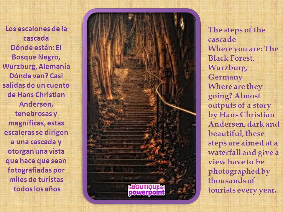 Los escalones de la cascada Dónde están: El Bosque Negro, Wurzburg, Alemania Dónde van.