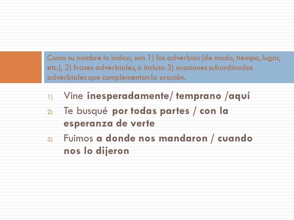 El objeto o complemento CIRCUNSTANCIAL El COMPLEMENTO CIRCUNSTANCIAL responde las preguntas: ¿Cómo? ¿Cuándo? ¿Dónde? ¿Por qué? ¿Para qué? (etc.) El ho