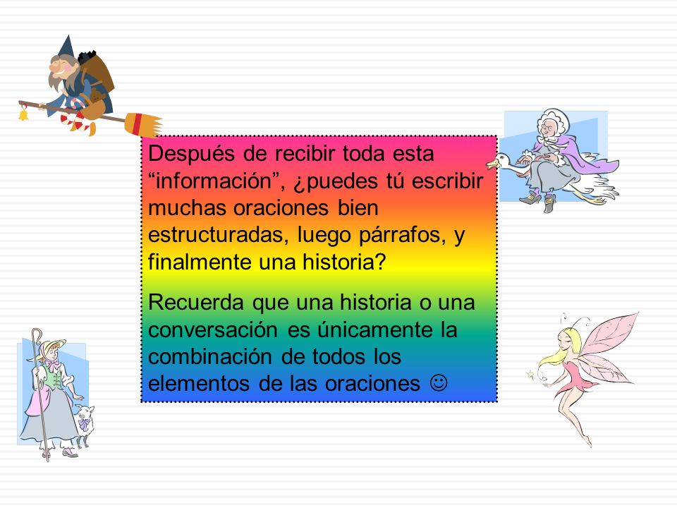 EJERCICIO: Identifica los sujetos, verbos, objetos directos y e indirectos en el siguiente párrafo (extracto de Los chicos, de Ana María Matute: SUJET