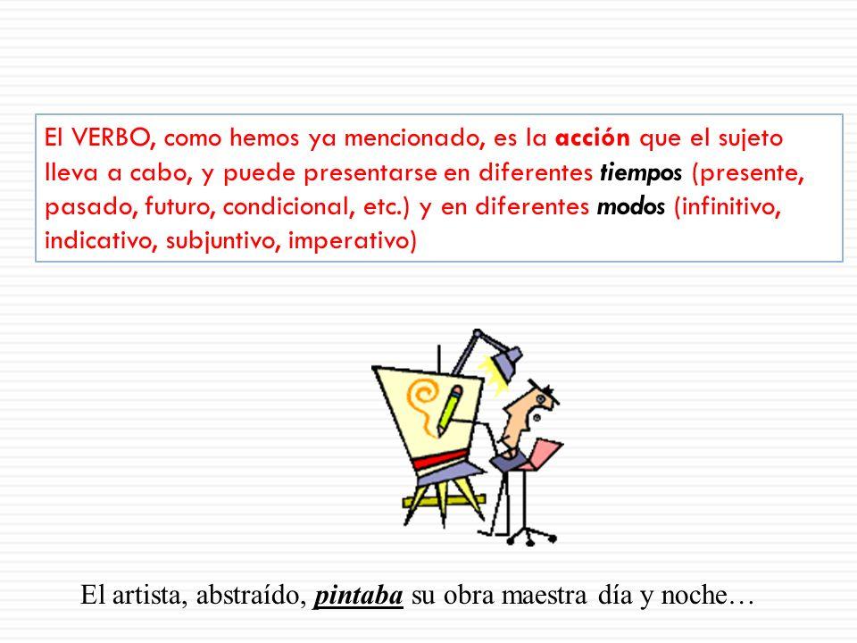 El predicado es lo que se dice del sujeto, y comprende: Un verbo o verbos conjugados (la acción que el sujeto realiza) Complementos u objetos que esta