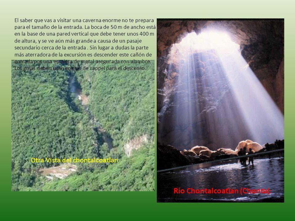 Río San Jerónimo En el punto donde se entra al río, no se puede ver el techo de la caverna, debido a su altura y a lo estrecho del cañón por donde se llega.