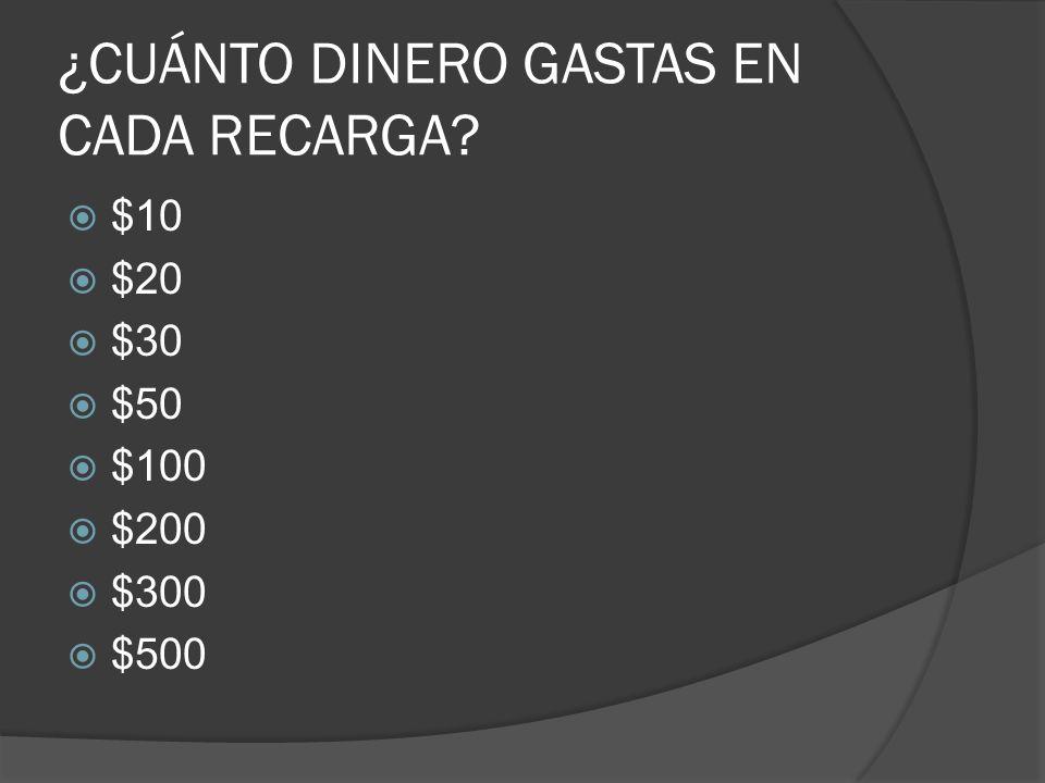 EL 70% ES USUARIO DE TELCEL SI RECARGAS $20,$30,$50,$100 TIENES UNA TARIFA DE $3.98 el min.