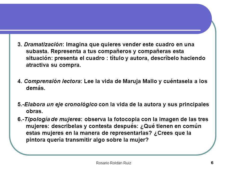 Rosario Roldán Ruiz37 Las creaciones extrañas de Maruja Mallo, entre las más considerables de la pintura actual, revelación poética y plástica, original, «Cloacas» y «Campanarios» son precursores de la visión plástica informalista .