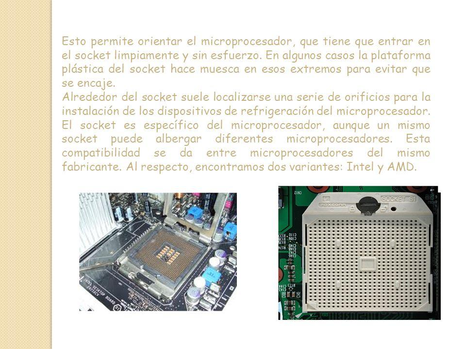 Esto permite orientar el microprocesador, que tiene que entrar en el socket limpiamente y sin esfuerzo.