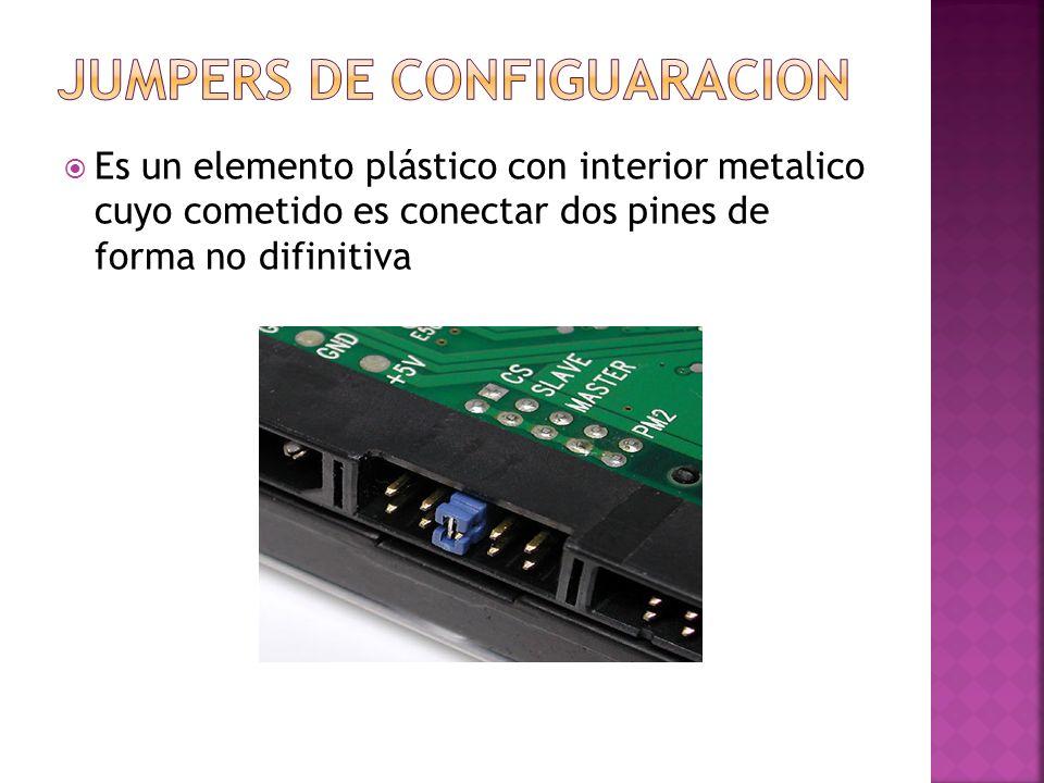 Es un elemento plástico con interior metalico cuyo cometido es conectar dos pines de forma no difinitiva