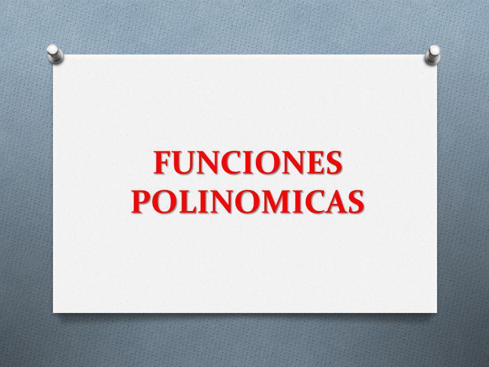 FUNCIONES POLINOMICAS