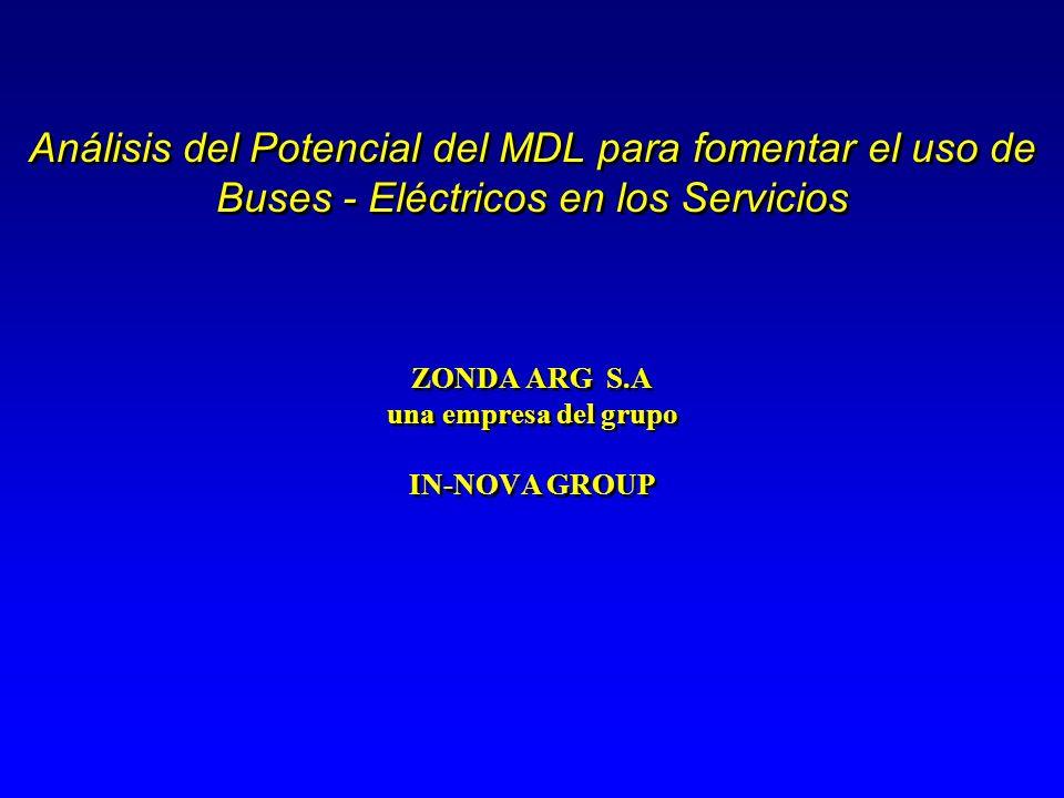 Análisis del Potencial del MDL para fomentar el uso de Buses - Eléctricos en los Servicios ZONDA ARG S.A una empresa del grupo IN-NOVA GROUP